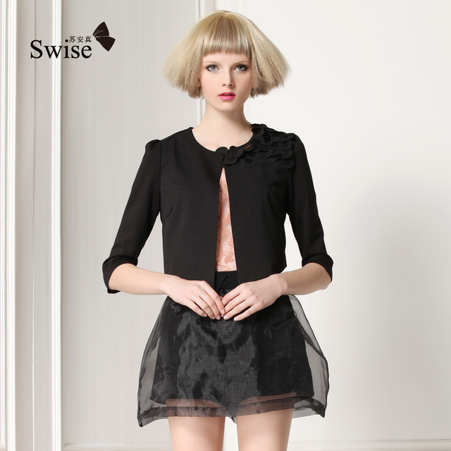 2013 spring new arrival fashion female suit slim small suit jacket female fish scale coat