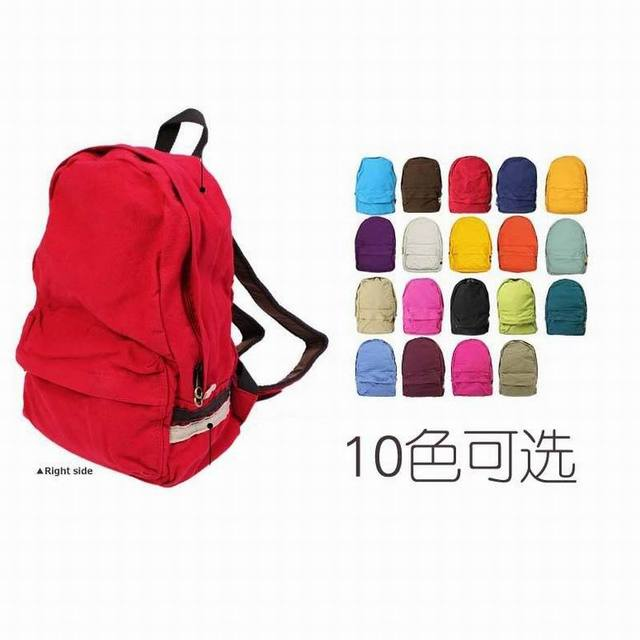 2017 hot sale women  casual canvas bag backpack female school bag canvas backpack free shipping