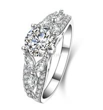1 карат 4 сохатый стерлингового серебра SONA diamant кольцо обручальное обручальное кольцо США размер от 4 до 10.5 (НМ)(China (Mainland))