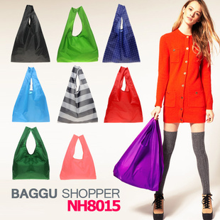 10pieces/lot Japan BAGGU square pocket Shopping bag ,many colors available Eco-friendly reusable folding handle Bag