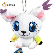 "[PCMOS] 2016 New 4"" Digital Monster Digimon Adventure Mascot Vol.2 Tailmon Mini Plush Keychain Free Shipping 16052703(China (Mainland))"