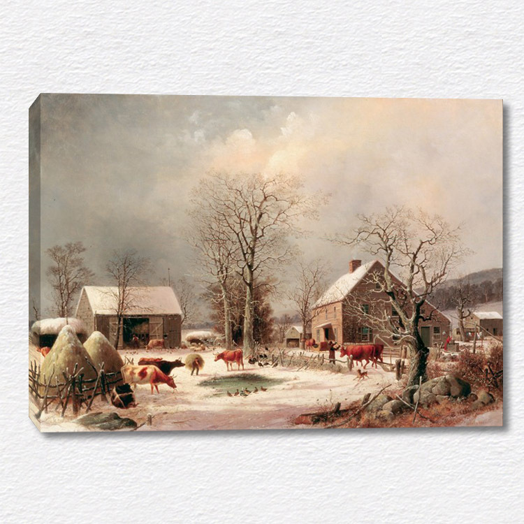 """Realist style animals painting """"a Lively farm"""" canvas wall art print picture(China (Mainland))"""