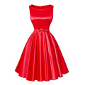 2016 Pretty 50s 60s Vintage Dresses Summer style plus size womens clothing Swing Party Rockabilly Dress