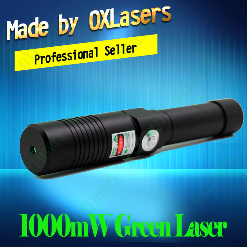OXLasers OX-GX9 520nm(NOT 532nm) 1000mw 1W Focusable Green laser pointer the Brightest Burning Laser Light Cigar free shipping(China (Mainland))