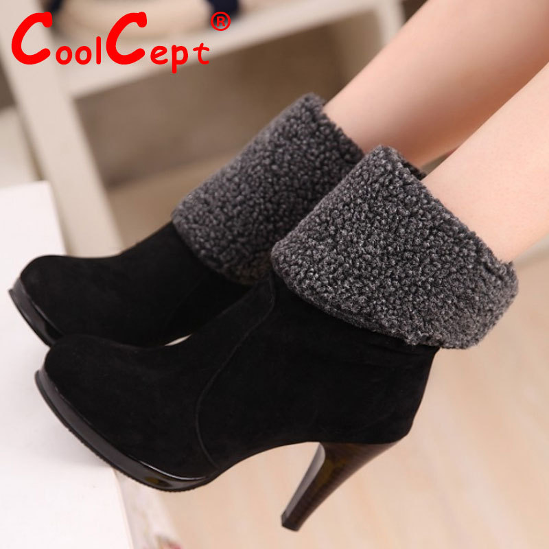 Free shipping half boots women fashion snow winter footwear wedge shoes sexy warm short boot P8710 EUR size 34-39<br><br>Aliexpress