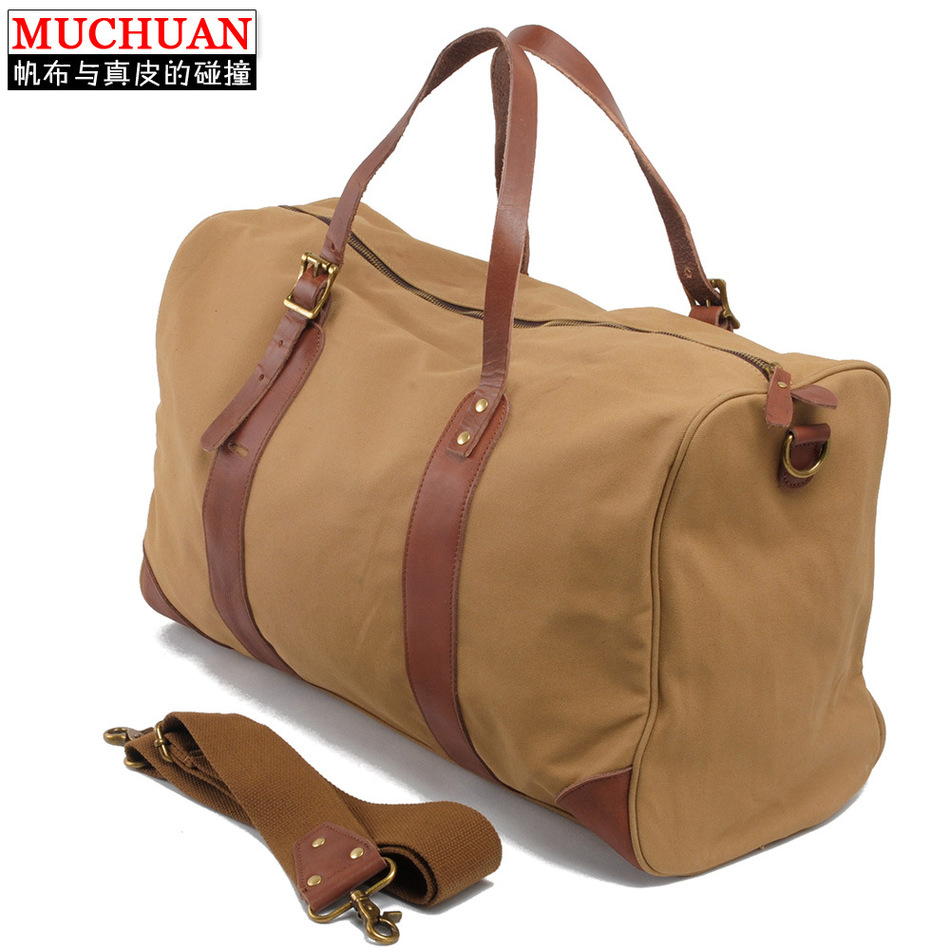 New Pattern Canvas Handbag Men's Singles Shoulder Span Leisure Time Package Will Capacity Travelling Bag(China (Mainland))