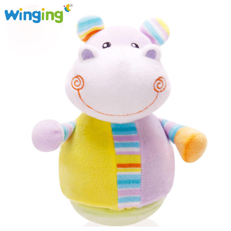 Kawaii New Early Educational Musical Cartoon Baby Toy Baby Stuffed Animals Plush Toy Super Soft Plush Baby Cute Tumbler Doll(China (Mainland))