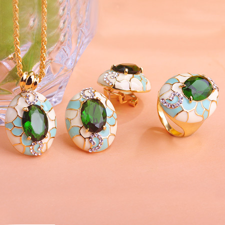 Cz necklace and earring sets india vs