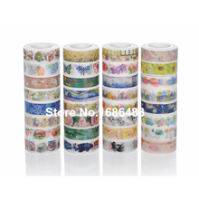 Hot style Japanese printed decorative colorful washi paper tape for gift packing