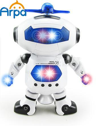 Space Dancing Humanoid Robot Toy With Light Children Pet Brinquedos Electronics Jouets Electronique for Boy Kid(China (Mainland))