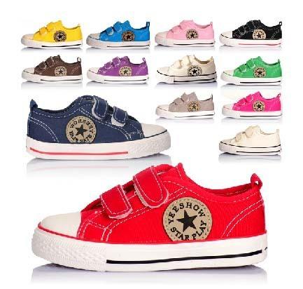 Распродажа размер 23 ~ 35 детей холст обувь детей кроссовки для мальчиков и девочек ...
