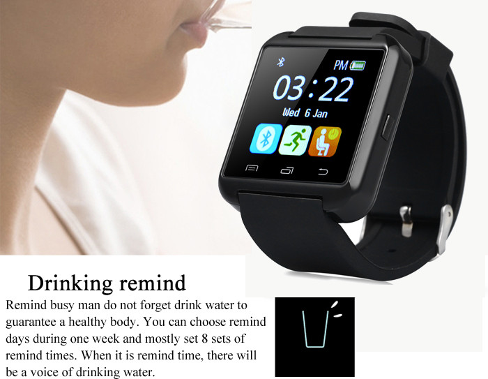 image for Toobur Bluetooth Smartwatch Wrist Watch Anti-lost Passometer Photograp