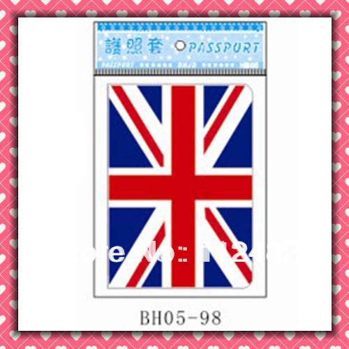 Free Shipping UK flag passport holders 100pcs/lot passport covers Card holders