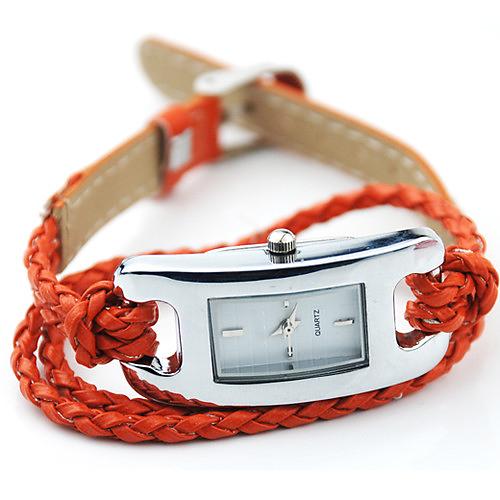 Гаджет  2015 New Creative Ladies Womens Charm Quartz Multi Layer Woven Bracelet Watch None Часы