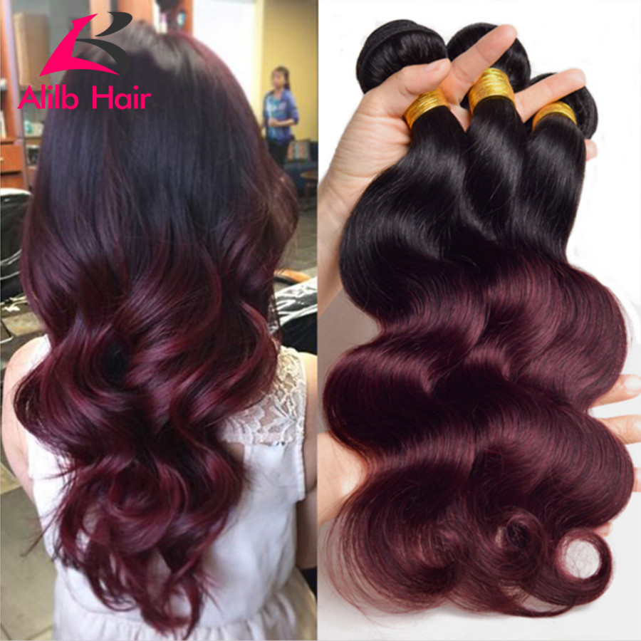 6a Ombre Brazilian Hair Brazilian Body Wave 3pcs Colored