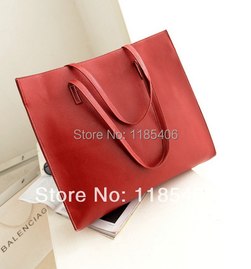 Big black tote bag/PU leather suppliers/Cheap PU leather handbags High Quality Big Volume Tote Bag TCB11194 Free Shipping(China (Mainland))
