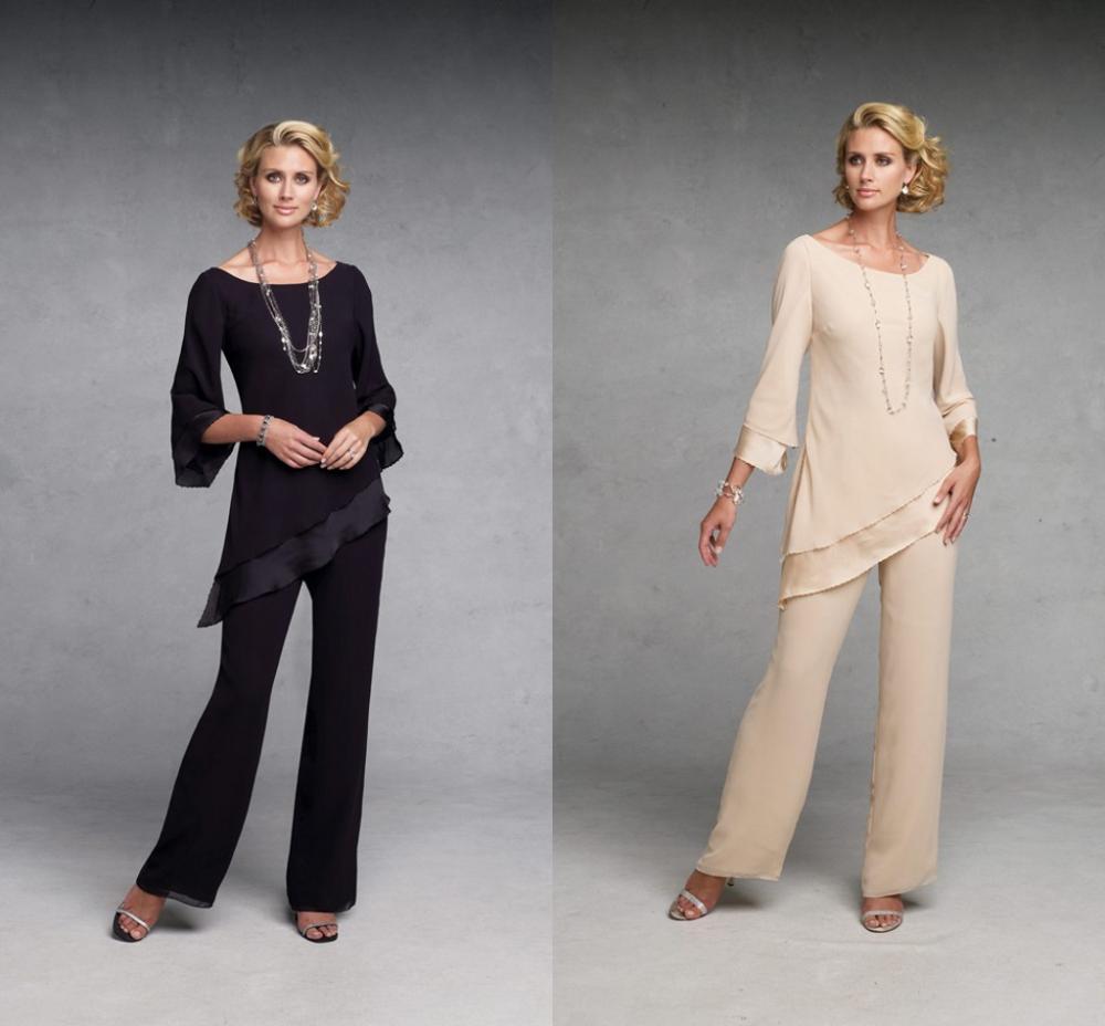2014 fashion chiffon mother of the bride pants suit set for Suit dresses for weddings