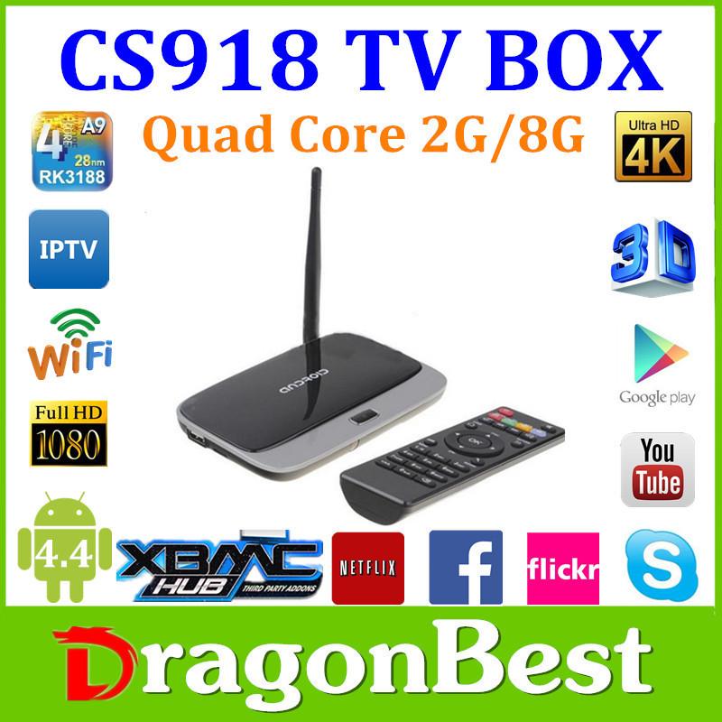 Free Ship CS918 2G 8G Android TV box 1080P RK3188T Quad-core Q7 Media Player Mic XBMC DLNA Miracast WIFI LAN tv box WiFi antenna(China (Mainland))