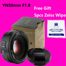 Buy YONGNUO 50mm Lens fixed focus lens EF 50mm F/1.8 AF/MF Large Aperture Auto Focus Lens Canon+ Zeiss Lens Wipe for $47.99 in AliExpress store