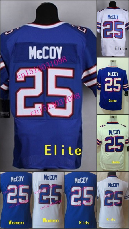 #25 LeSean McCoy Jersey ,Buffalo Football Jersey,top quality Elite jersey 100% Stitched logo Size S-XXXL Accept Mix Order(China (Mainland))