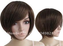 2012 New vogue short dark brown women's Wig wigs (B0320)(China (Mainland))