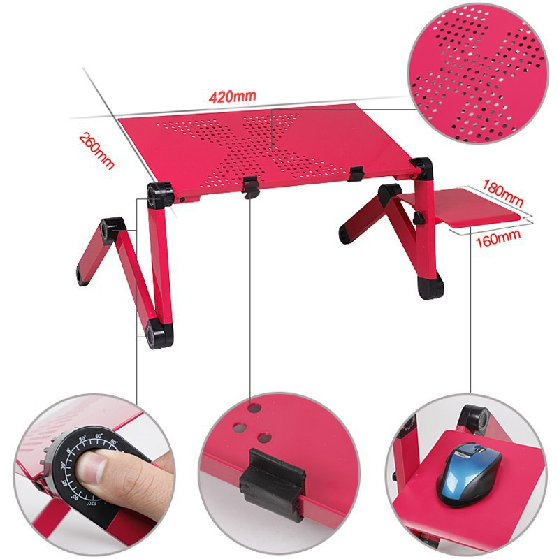 Brand New Multi Functional 360 Portable Folding Laptop table stand for bed sofa table foldable notebook Desk with mouse pad(China (Mainland))