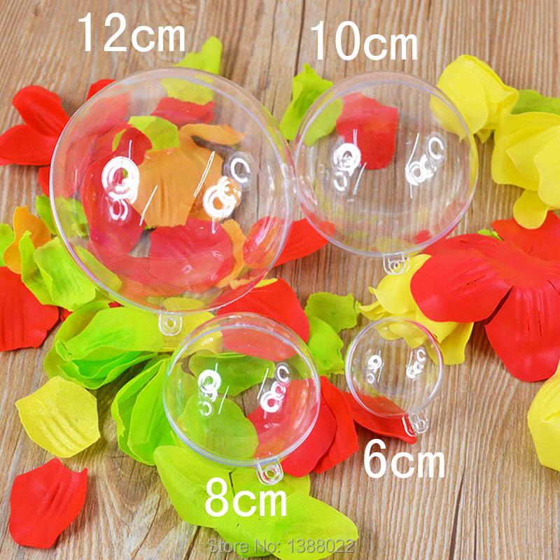 10Pcs Transparent Plastic Balls Decor Christmas Tree Can Open Box Ornament(China (Mainland))