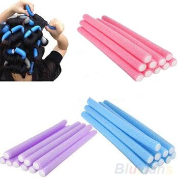 10Pcs Curler Makers Soft Foam Bendy Twist Curls Tool DIY Styling Hair Rollers   1UD8