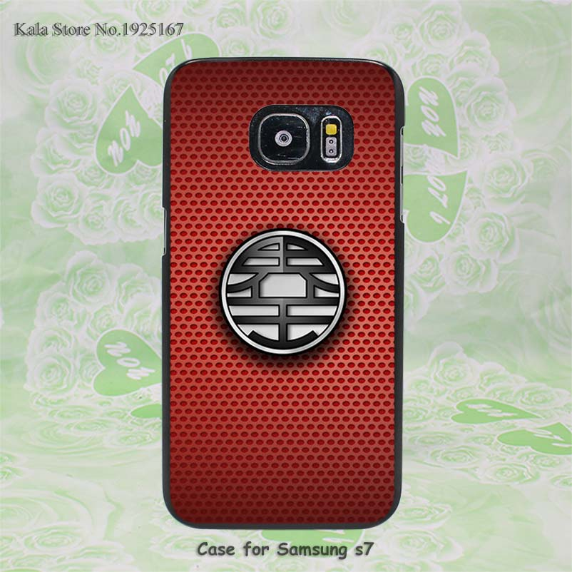 dragon balls kaio goku uniform logo Pattern hard black Case Cover for Samsung Galaxy s6 s7 edge s4 s5 mini s3 & note 2 3 4 5(China (Mainland))