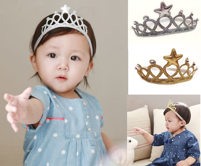 2016 Kids Baby Bebe Girl Children Crown Birthday Party Headband Hair Accessories Gift Hair Band Hair Bands Headbands(China (Mainland))