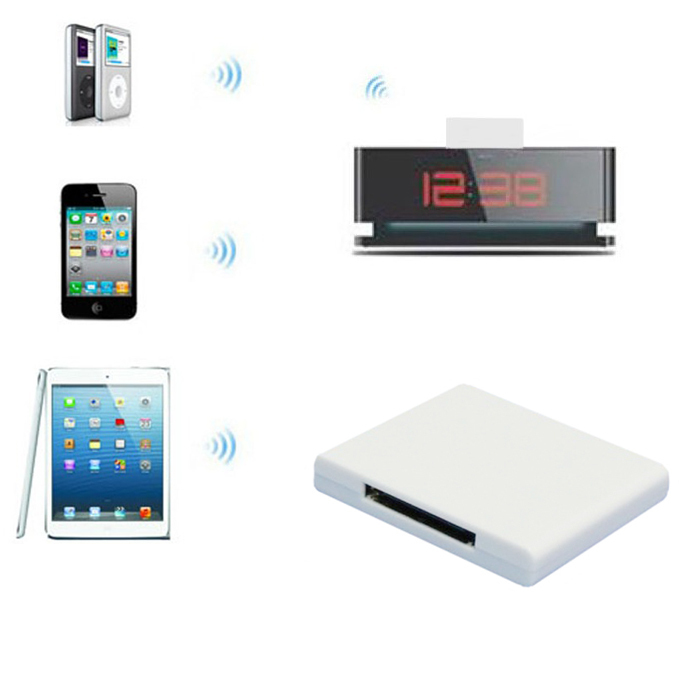 New Bluetooth Wireless Audio Music Receiver Adapter For iPhone 30 Pin Dock Speaker Lucky(China (Mainland))