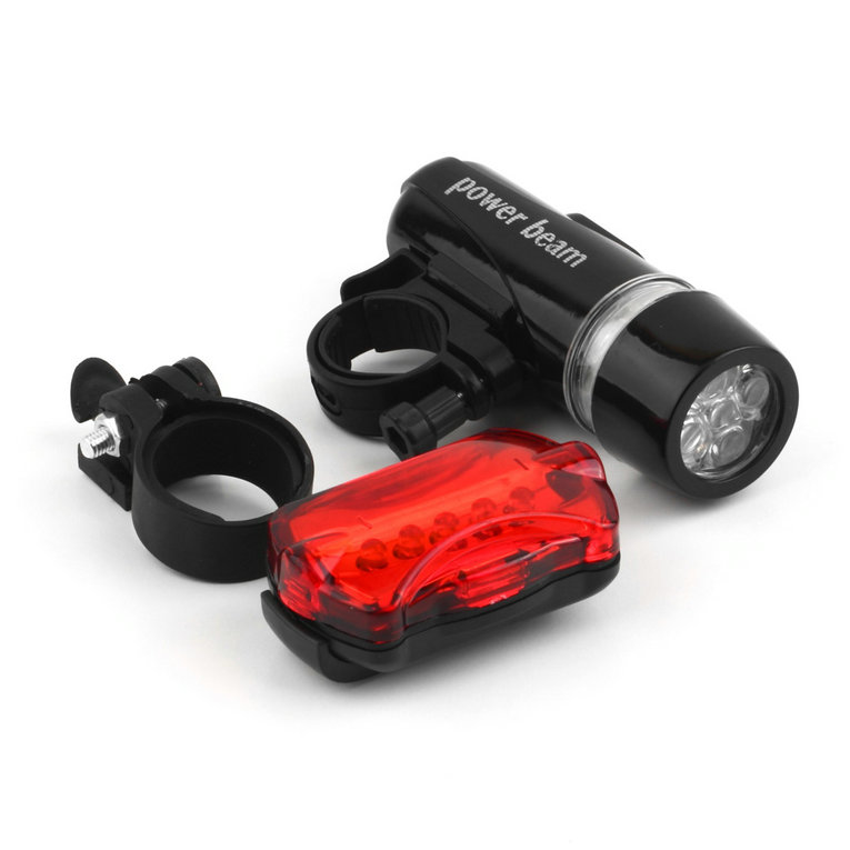 Waterproof Bike Bicycle Lights 5 LEDs Bike Bicycle Front Head Light + Safety Rear Flashlight Torch Lamp headlight accessory(China (Mainland))