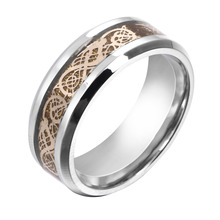 Men's Cool Vintage Stainless Steel Dragon Carved Punk Ring Gift Size 5-14(China (Mainland))
