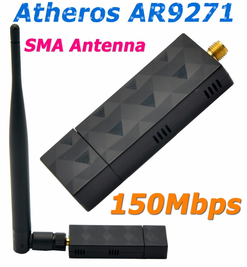 Atheros AR9271 150Mbps USB WiFi Adapter with 5DBi WiFi Antenna Ethernet Adapter For Beini/ROS/Windows 7/8/10 Linux / Soft AP(China (Mainland))