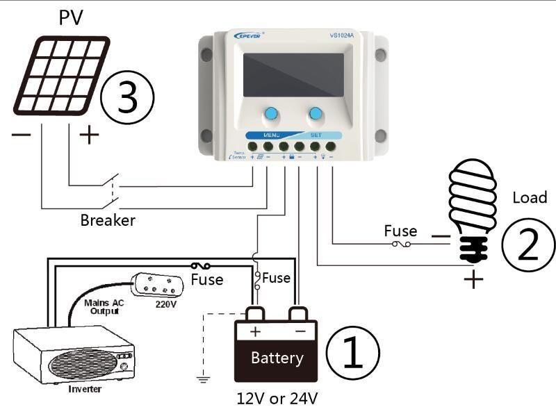 epsolar 20a 12v  24v pwm solar controller charge regulator