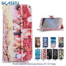 Buy IKASEFU Wallet Leather Phone Case Cover Samsung Galaxy S7 S7 Edge Coque Stand Flip Cover Samsung Galaxy S7 / S7 Edge for $3.55 in AliExpress store