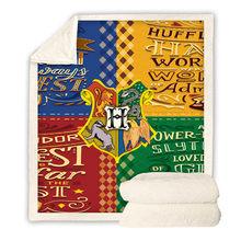 3D Harri Potter Gryffindor Symbol Plush Throw Blanket Red Color Sherpa Fleece Bedspread Blanket Vintage Bedding Blanket 2019(China)