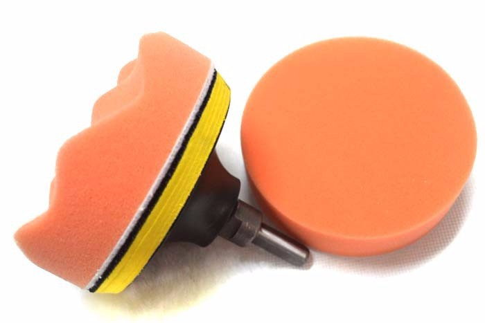 Free Shipping 5″ 125mm car wash Car Polishing Pad set Wet Foam Buffing Pads for Car Styling with Drill Adaptor M10