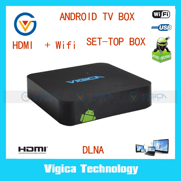 Free shipping Best  Mini PC HDMI Internet Skype TV Media Player dual core Google Smart android TV Box