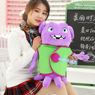 middle plush green clothes aliens toy lovely home laughing alien doll gift about 50cm(China (Mainland))