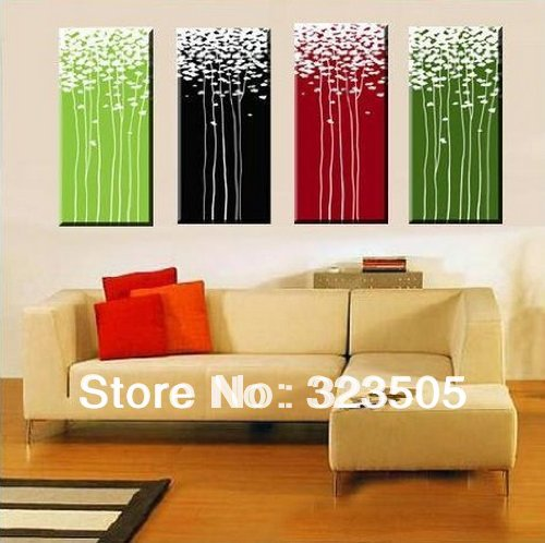 4 piece canvas wall art large modern abstract wall panel. Black Bedroom Furniture Sets. Home Design Ideas