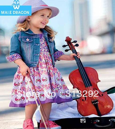 HL8049, 5sets/lot, baby children 2pcs clothing sets, long sleeve denim jacket + flower dress clothing suit for 1-5 year.<br><br>Aliexpress