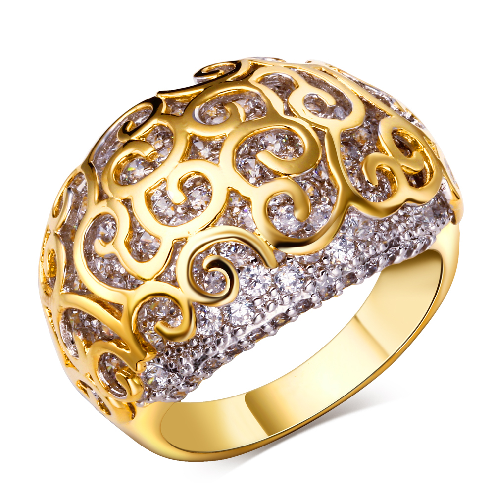 Rings for women 18k gold plated Luxury Ring high quality party jewelry Free shipping Full ring size #6, #7, #8, #9, #10(China (Mainland))