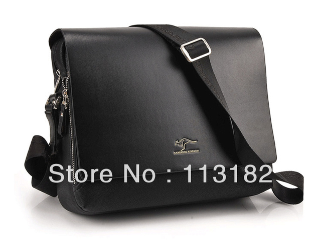 2013 New Arrived free shipping genuine leather men bag Australia kangaroo