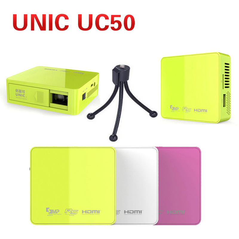 Original UNIC UC50 DLP Mini LED Projector With Tripod Full HD 1080P Home Theater Projecting Camera LED Video Home Multimedia<br><br>Aliexpress