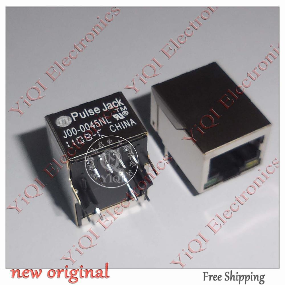 10 pieces = J00-0045NL J00-0045 RJ45 1x1 Tab-Down Gigabit Short Body - YiQi International Electronics Company store