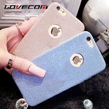 Buy LOVECOM Ultra Thin Soft TPU Bling Glitter Powder Phone Back Cover Iphone 5 5S SE 6 6S 7 Plus 7 Plus Phone Case Best Price for $1.26 in AliExpress store