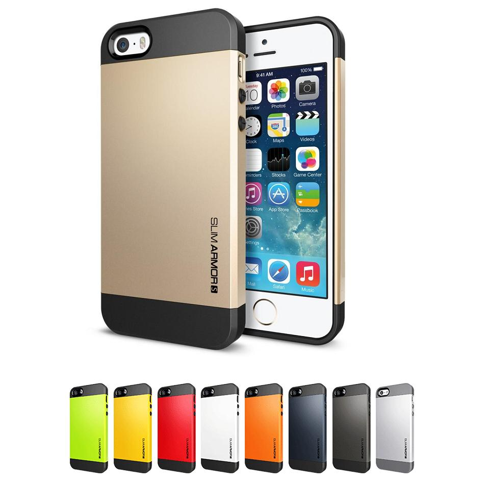 NWT Tough SLIM ARMOR protective Case for iphone 5g 5s original cell phone silicone protector ani-knock cover with 1x screen film(China (Mainland))