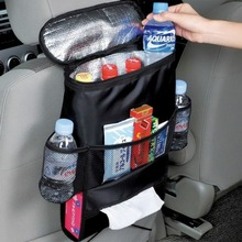 NEW!Insulation Work Style Auto Car Seat Organizer Sundries Holder Multi-Pocket Travel Storage Bag Hanger Backseat Organizing Box