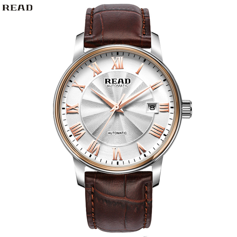 READ Leather Charm Men Classic Watch Chronograph Quartz Waterproof Multifunction Watches Masculino Mirror Finish Dial R8040-182<br><br>Aliexpress